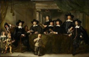 Regenten en secretaris van het Burgerweeshuis te Amsterdam, 1663