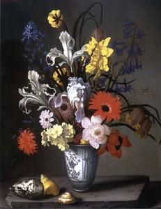 Bloemen in een porseleinen vaasje