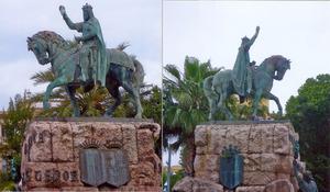 Ruiterstandbeeld van Jaime I van Spanje op Mallorca