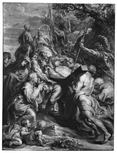 De kruisdraging van Christus met de ontmoeting met de H. Veronica