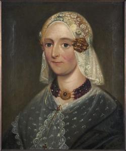 Portret van Houkje Overmeer (1814-1871)