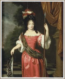 Portrait historié van een vrouw als Minerva