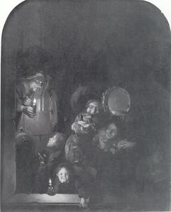 Nachtelijke scène met kinderen