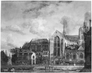 Gezicht op een gotische kathedraal