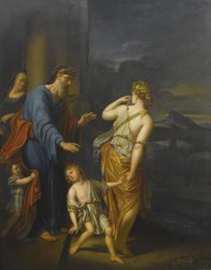 Hagar en Ismael verbannen uit het huis van Abraham (Genesis 21:9-12)
