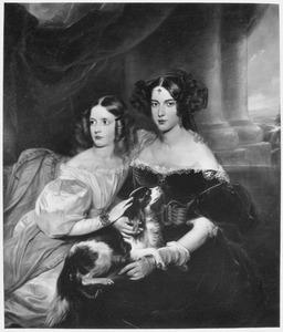 Portret van Louisa Paulina Cornelia Clasina van Rijckevorsel (1811-1874) en Carolina Margaretha Elisabeth van Rijckevorsel (1821-1883)