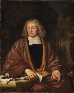 Portret van een onbekende man in zijn studeervertrek
