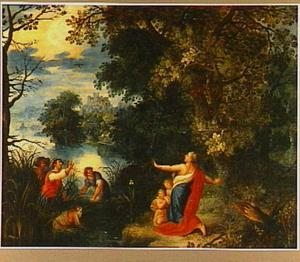 Landschap met Latona en de boeren (Ovidius, Metamorfosen)
