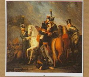 Willem II, prins van Oranje, gewond in de slag bij Waterloo, juni 1815