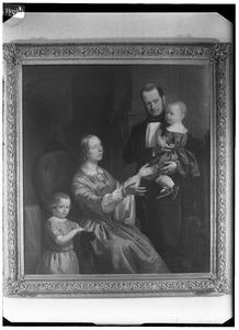 Portret van de familie van Johannes Arnoldus Pluygers (1810-1884)