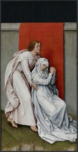 Maria en Johannes de Evangelist (op het rechterpaneel: Christus aan het kruis)