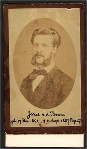 Portret van Joris van der Boom (1852-1887)