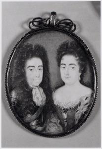 Dubbelportret van Willem III van Oranje-Nassau (1650-1702) en Mary Stuart II (1662-1695)