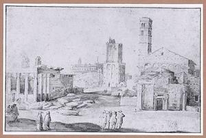 Het Forum Romanum, te Rome