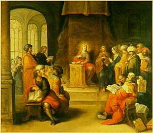 De twaalfjarige Christus temidden der schriftgeleerden