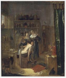 Een dokter bezig met een rugoperatie