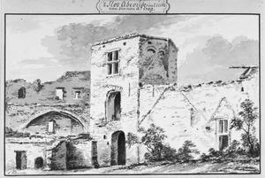Ruïne van de zeskantige toren van het kasteel van Abcoude