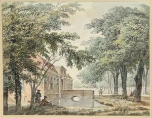 De voorpoort van het huis Elswout bij Haarlem