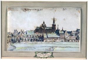 Gezicht op Den Bosch met de Sint-Janskathedraal, vanuit het Noorden