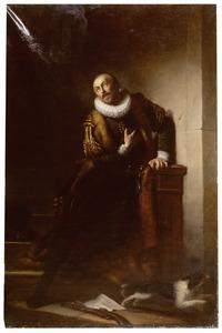Willem I, prins van Oranje, door Balthazar Gerards verraderlijk getroffen, roept stervende uit: ' Mijn God! Erbarm u over mij en over Uw arm volk!'