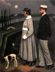 Dubbelportret van Kasper Niehaus (1889-1974) en Jo van Deene (1893-?)