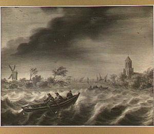 Gezicht op Rijnsaterwoude en het Brasemermeer