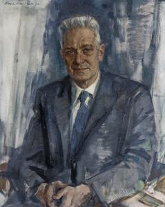 Portret van Jan Tinbergen (1903-1994)
