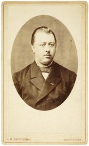 Portret van Willem Hendrik Feye van Heemstra (1842-1920)