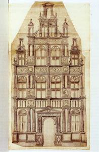 Ontwerptekening voor een façade gedateerd 1534