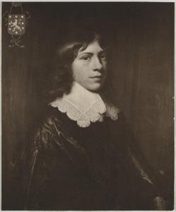 Portret van een man, genaamd Theodorus Vallensis (1612-1673)