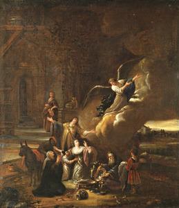 De aartsengel Rafaël verlaat Tobias en zijn familie (Tobit 12:20-22)