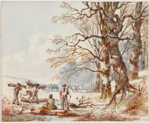 Landschap met houthakkers (De maand februari)
