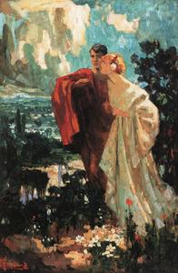 Portret van Rob Graafland (1875-1940) en Maria Hubertina Leopoldina Isabella Duquesne (1881-1956)