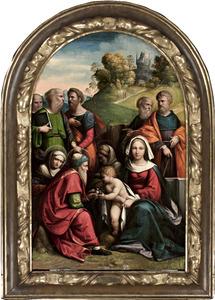 Madonna met kind en heiligen