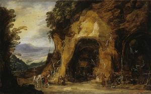 Monniken in een grot