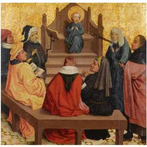 Twaalf jarige Christus tussen de schriftgeleerden in de tempel