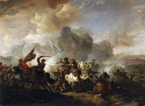 Ruitergevecht tussen Turken en Christenen