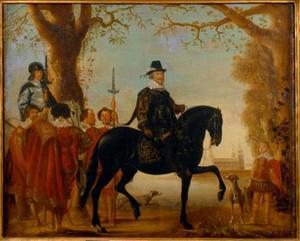 Christian IV (1577-1648) en kroonprins  te paard