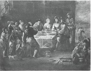 Maaltijd  in de taverne