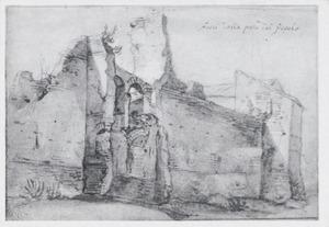 Ruïnes buiten de Porta del Popolo in Rome