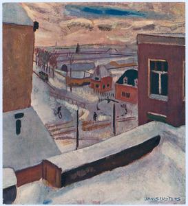 Gezicht op de Amstelveenseweg in de winter
