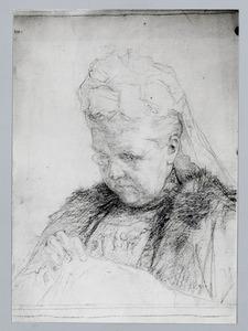"""Portret van H.M. de Koningin Moeder """"Emma"""""""