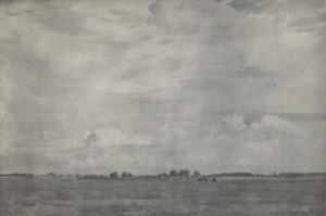 Landschap met lage horizon