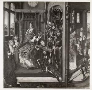 De keizerskroning van de H. Hendrik II en de overhandiging van het rijkszwaard