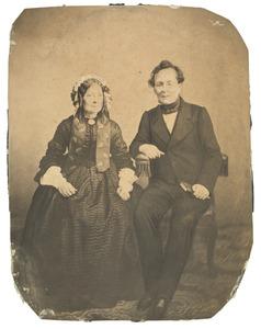 Portret van Hendrik Jansen (1796-1873) en Jacoba Petronella van Maren (1793-1874)