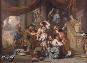 Odysseus herkent Achilles onder de dochter van Lycomedes