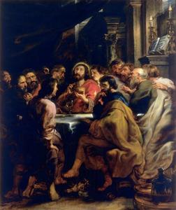 De instelling van de Eucharistie gedurende het Laatste Avondmaal