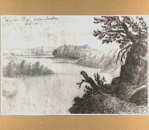 De Rijn bij Arnhem, op de achtergrond het huis Meinerswijk