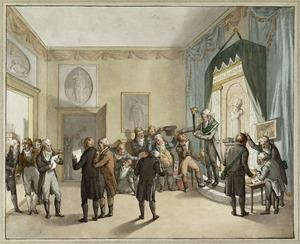 Ridderfeest van het Haarlems genootschap Democriet gevierd bij Adriaan Bongardt, 24 november 1807