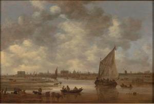 Gezicht op Leiden vanuit het noordoosten
